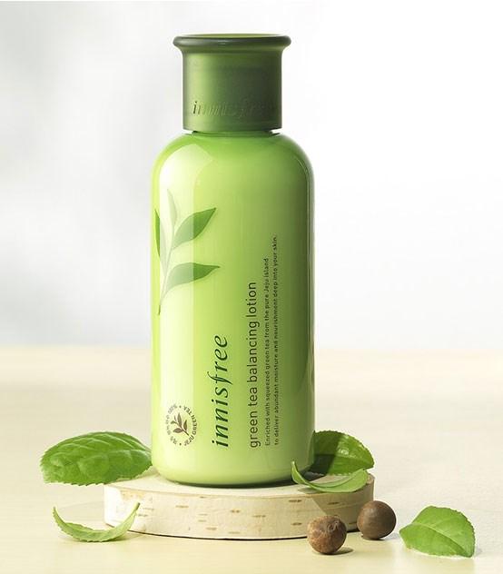Увлажняющий лосьон для комбинированной кожи с экстрактом зеленого чая Innisfree Green Tea Balancing Lotion 160ml - фото 5192