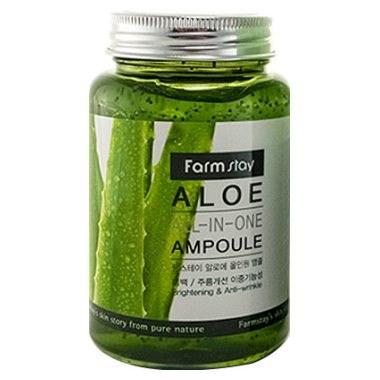 Многофункциональное ампульное средство с экстрактом алоэ Farm Stay Aloe ALL-IN ONE AMPOULE 250мл - фото 5246