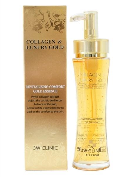 Эссенция для лица с коллоидным золотом 3W Clinic Collagen & Luxury Gold Revitalizing Comfort Gold Essence - фото 5328