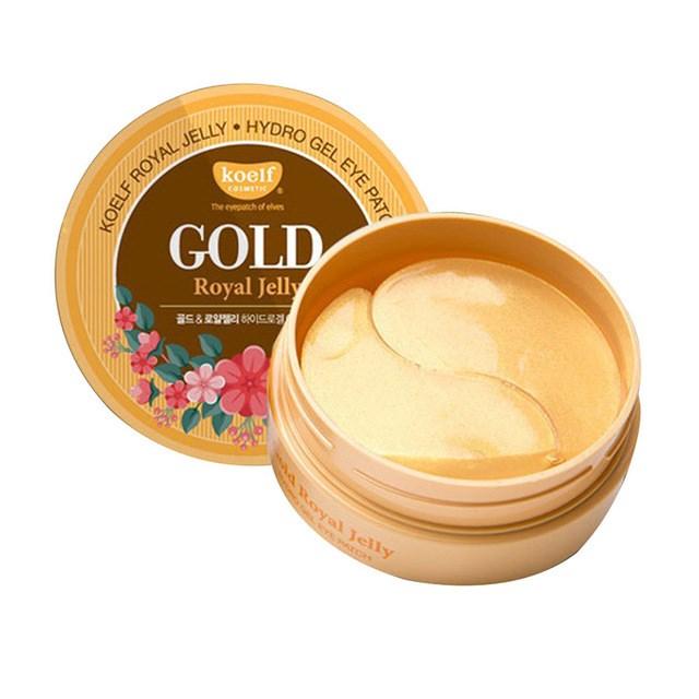 Патчи для глаз с лифтинг-эффектом на основе золота и маточного молочка PETITFEE KOELF Gold & Royal Jelly Eye Patch (60 шт) - фото 5355