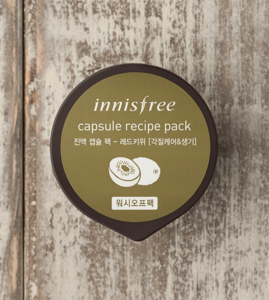 Маска для лица с экстрактом красного киви Innisfree Capsule Recipe Pack Red Kiwi - фото 5635