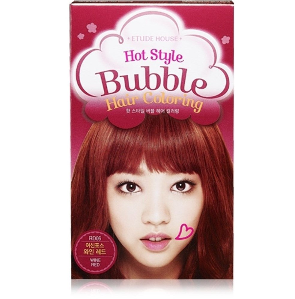 Краска для волос Etude House Hot Style Bubble Hair Coloring #RD06 Wine Red - фото 6280