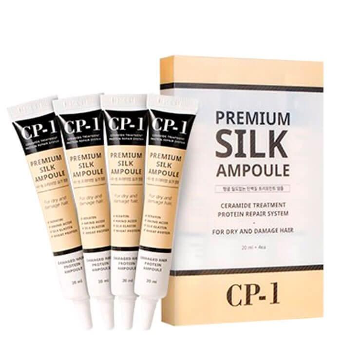 Несмываемая сыворотка для волос с протеинами шелка ESTHETIC HOUSE CP-1 Premium Silk Ampoule 20 мл - фото 6340