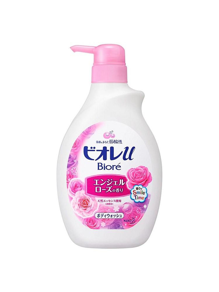 Гель для душа KAO Biore U с ароматом розовых роз 530 мл - фото 6632