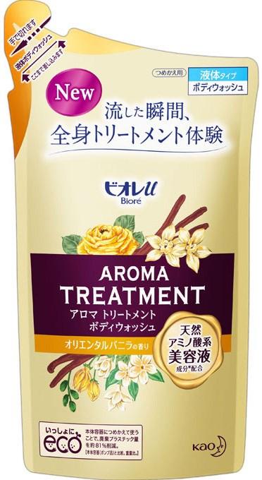 """Увлажняющий и смягчающий гель для душа с ароматом ванили КAO """"Biore U"""" Aroma Treatment, наполнитель 340 мл - фото 6633"""