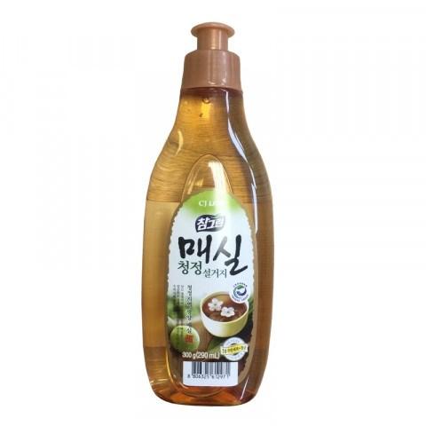 Средство для мытья посуды CJ Lion Chamgreen Японский абрикос, флакон 290 мл - фото 7639