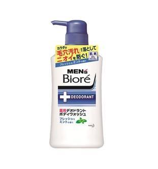 Мужской гель для душа Kao Men's Biore аромат мяты флакон-дозатор 440мл - фото 7738