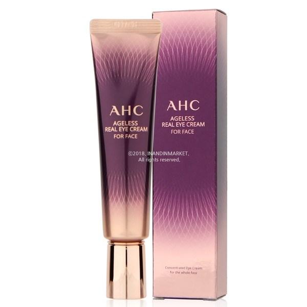 Универсальный крем для век с комплексом пептидов AHC Ageless Real Eye Cream for Face 30ml - фото 7893