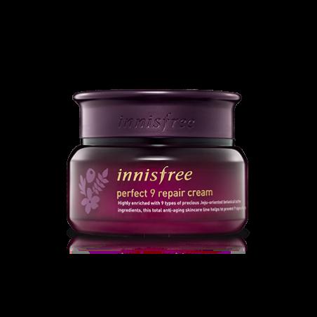 Комплексный омолаживающий крем для лица от 9 признаков старения INNISFREE Perfect 9 Repair Cream 60ml - фото 7953