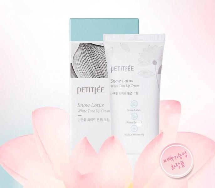 Осветляющий крем для лица и тела с экстрактом снежного лотоса Petitfee Snow Lotus White Tone Up Cream - фото 7964