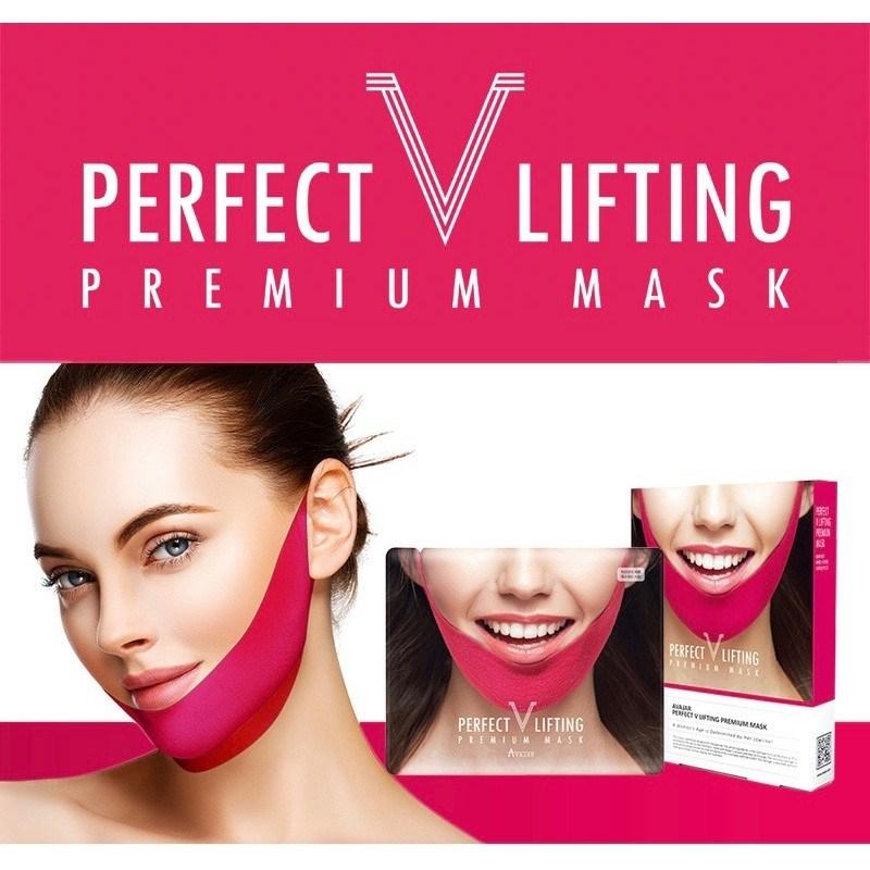 Подтягивающая премиум-маска для создания овала лица Avajar Perfect V Lifting Premium Mask - фото 8746