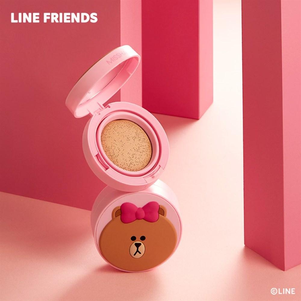 Кушон MISSHA (Line Friends Edition) Glow Tension Cushion 15g #Vanilla - фото 8796