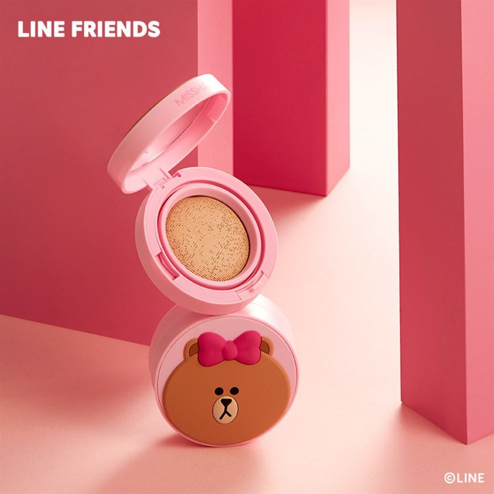 Кушон MISSHA (Line Friends Edition) Glow Tension Cushion 15g #Beige - фото 8797