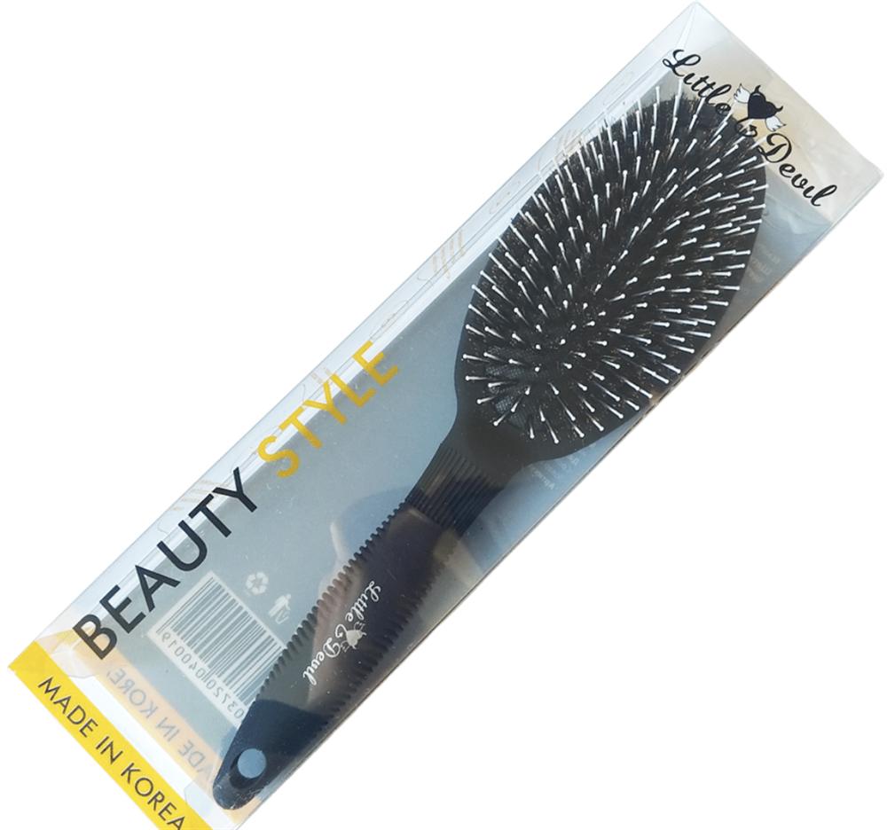 """Щетка для волос с натуральной щетиной кабана и нейлона """"Little Devil"""" 25,5см - фото 8948"""