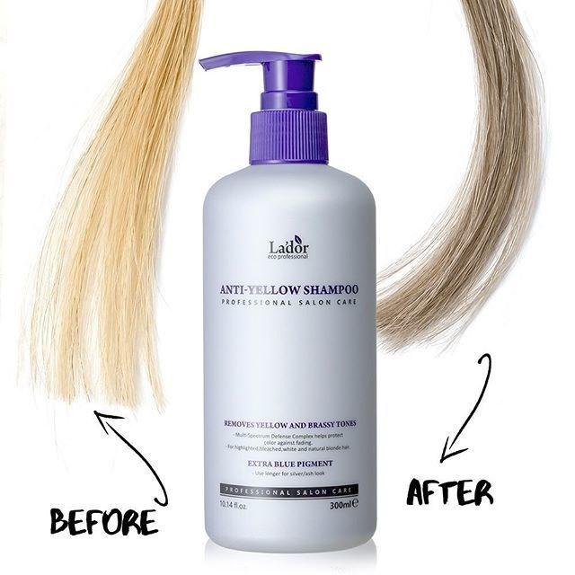 Бессульфатный оттеночный шампунь против желтизны волос Lador Anti Yellow Shampoo 300ml - фото 8960