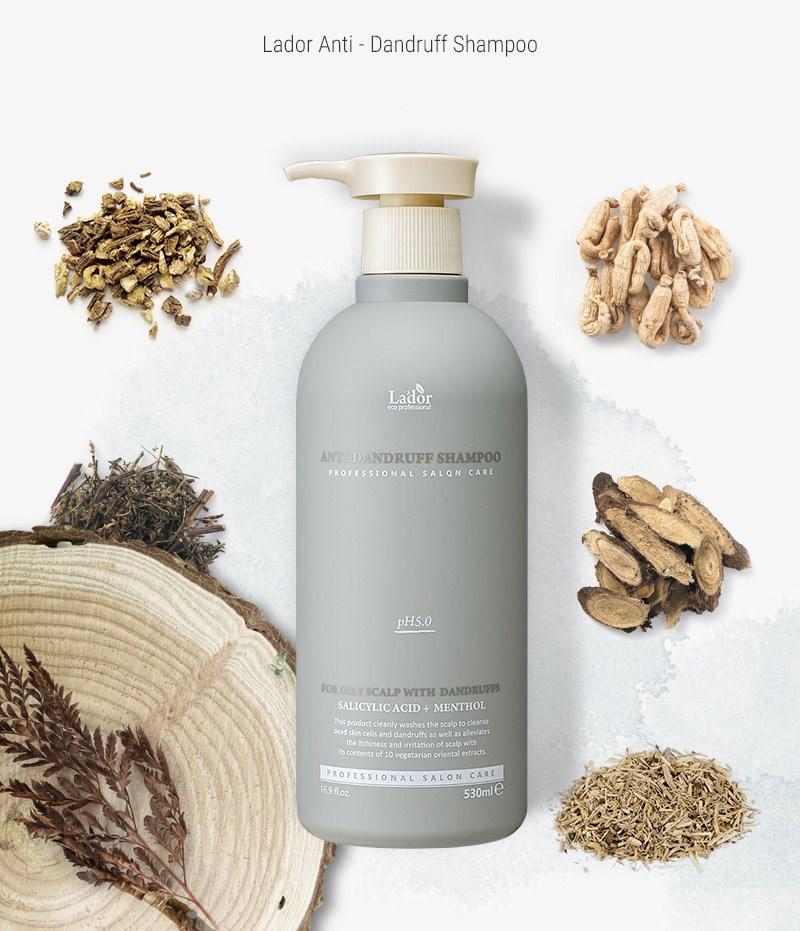 Бессульфатный шампунь против перхоти LADOR Anti-Dandruff Shampoo 530мл - фото 8984