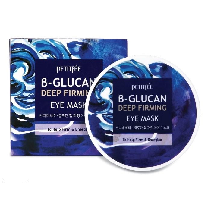 Укрепляющие патчи с бета-глюканом Petitfee B glucan deep firming eye mask - фото 9301