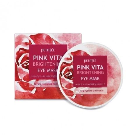 Осветляющие интенсивно увлажняющие патчи Petitfee Pink Vita Brightening Eye Mask - фото 9303
