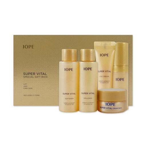 Увлажняющий и витаминизирующий набор миниатюр Iope Super Vital special gift rich set 5 items - фото 9594