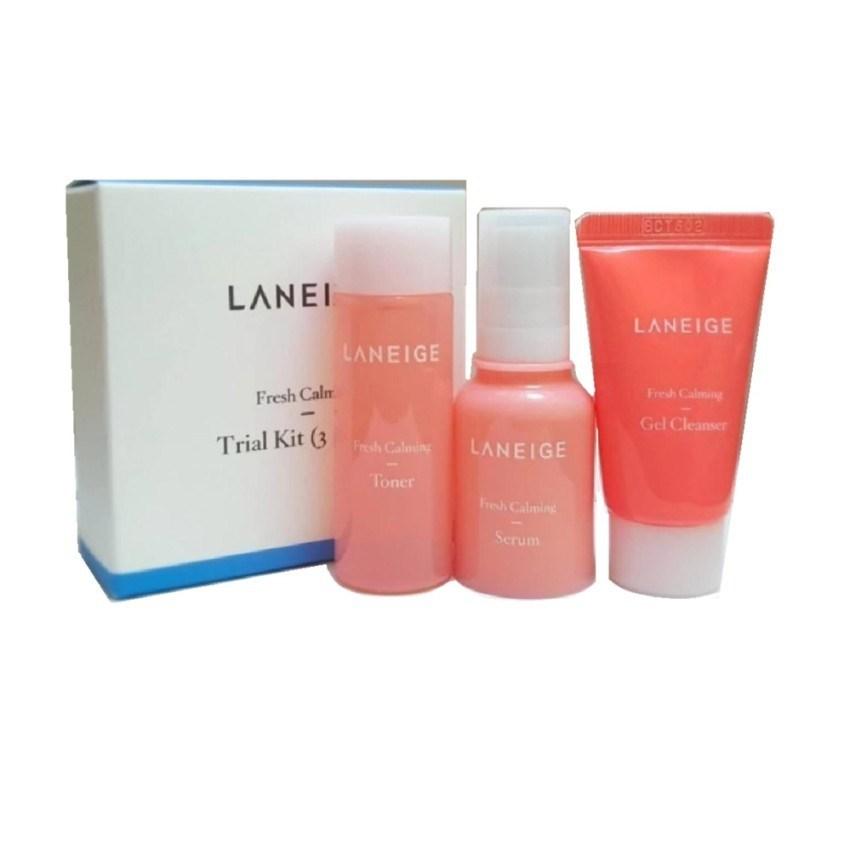 Мини набор по уходу за лицом для чувствительной кожи LANEIGE Fresh Calming Trial Kit (3 items) - фото 9599