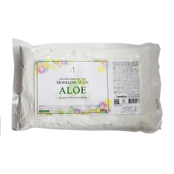 Маска альгинатная с экстрактом алоэ успокаивающая (пакет) Anskin Aloe Modeling Mask Refill 240g - фото 9740