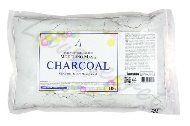 Маска альгинатная для жирной кожи с расширенными порами Anskin Charcoal Modeling mask 240g (пакет) - фото 9749
