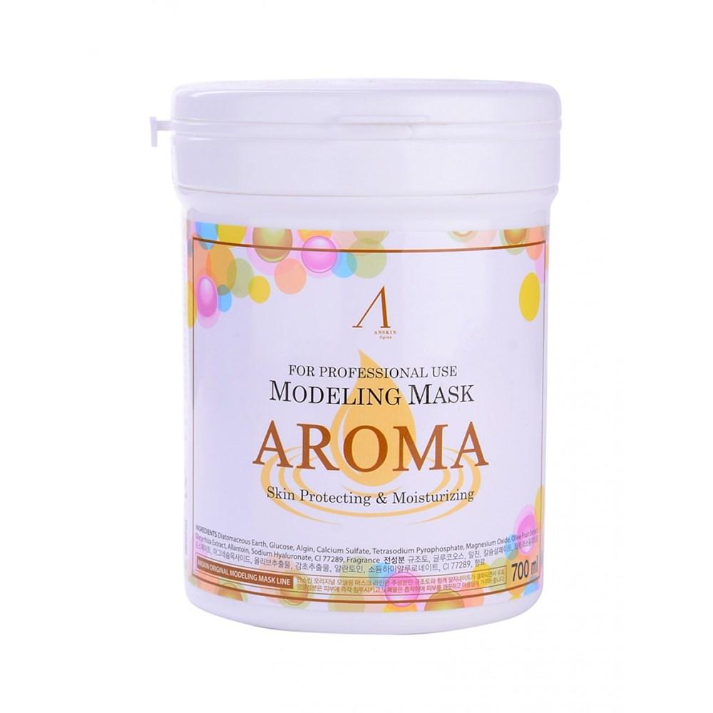 Альгинатная маска антивозрастная питательная Anskin Aroma Modeling mask 700ml (банка) - фото 9765