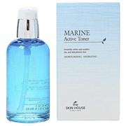Увлажняющий тонер с морской водой и водорослями THE SKIN HOUSE Marine Active Toner 130ml
