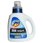 """Высокоэффективный дезодорирующий гель для стирки белья и устранения стойких запахов КАО """"Attack"""" с ароматом свежих трав, бутылка 900 г"""