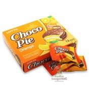 """Пирожное в шоколадной глазури Lotte """"Choco Pie"""" Апельсин, 1шт."""