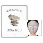 Маска для лица тканевая глиняная A'PIEU Pore Deep Clear Gray Mud Mask