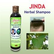 Лечебный тайский шампунь для роста и против выпадения волос Jinda Herbal Hair Shampoo Fresh mee-leaf+Butterfly Pea, 250 мл