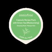 Капсульная охлаждающая ночная маска Innisfree Capsule Recipe Pack # Green Tea - Cool Sleeping Pack