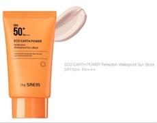 Водостойкий солнцезащитный крем THE SAEM Eco Earth Power Perfection Waterproof Sun Block SPF50+ PA+++ 50г