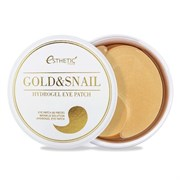 Гидрогел. патчи д/ глаз ЗОЛОТО/УЛИТКА ESTHETIC HOUSE GOLD&SNAIL HYDROGEL EYE PATCH