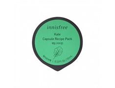 Смываемая смягчающая маска с листовой капустой Innisfree Capsule Recipe Pack #Kale - Wash Off Pack