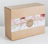 Коробка‒пенал «Счастья и любви», 30 × 23 × 12 см   3907229