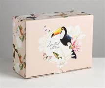 Коробка‒пенал Tropical present, 26 × 19 × 10 см 4940705