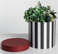 Подарочная коробка круглая «ЧК», 18 × 18 х 18 см