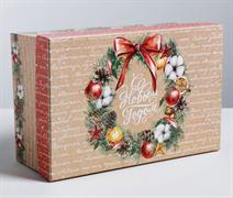 Подарочная коробка «С Новым годом», 28 × 18.5 × 11.5 см