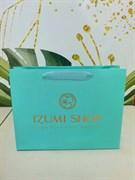 Фирменный пакет Izumi shop бирюзовый 60р