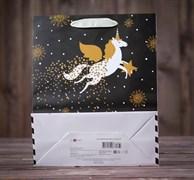 Пакет подарочный «Новогодний визит», люкс, 26,4 х 36 х 11,5 см 4623002