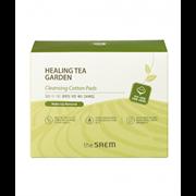 🌸Диски хлопковые влажные очищающие THE SAEM Healing Tea Garden Cleansing Cotton Pads 7мл*30