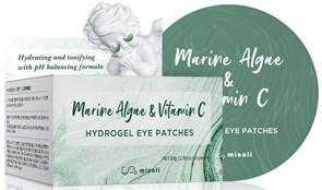 Гидрогелевые патчи с морскими водорослями и витамином С Misoli Marine Algae & Vitamin C Hydrogel Eye Patch 60 шт