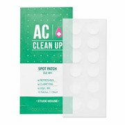 Точечные патчи от воспалений и акне Etude House AC Clean Up Spot Patch 12 шт