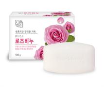 """Успокаивающее и увлажняющее туалетное мыло с экстрактом дамасской розы MKH """"Rose Beauty Soap"""" 100 г"""