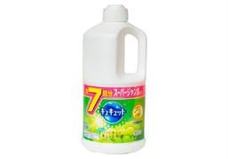 Средство для мытья посуды, фруктов и овощей KAO CuCute Muscat аромат мускатного винограда бутылка с крышкой 1380мл