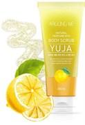 Скраб для тела с экстрактом цитрона Welcos Around Me Natural Perfume Vita Body Scrub Yuja 200 мл