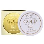 Омолаживающие гидрогелевые патчи для глаз EGF и золото PETITFEE Gold & EGF Eye & Spot Patch