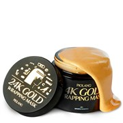 Маска для лица с 24 каратным золотом PIOLANG 24k GOLD WRAPPING MASK 80 мл